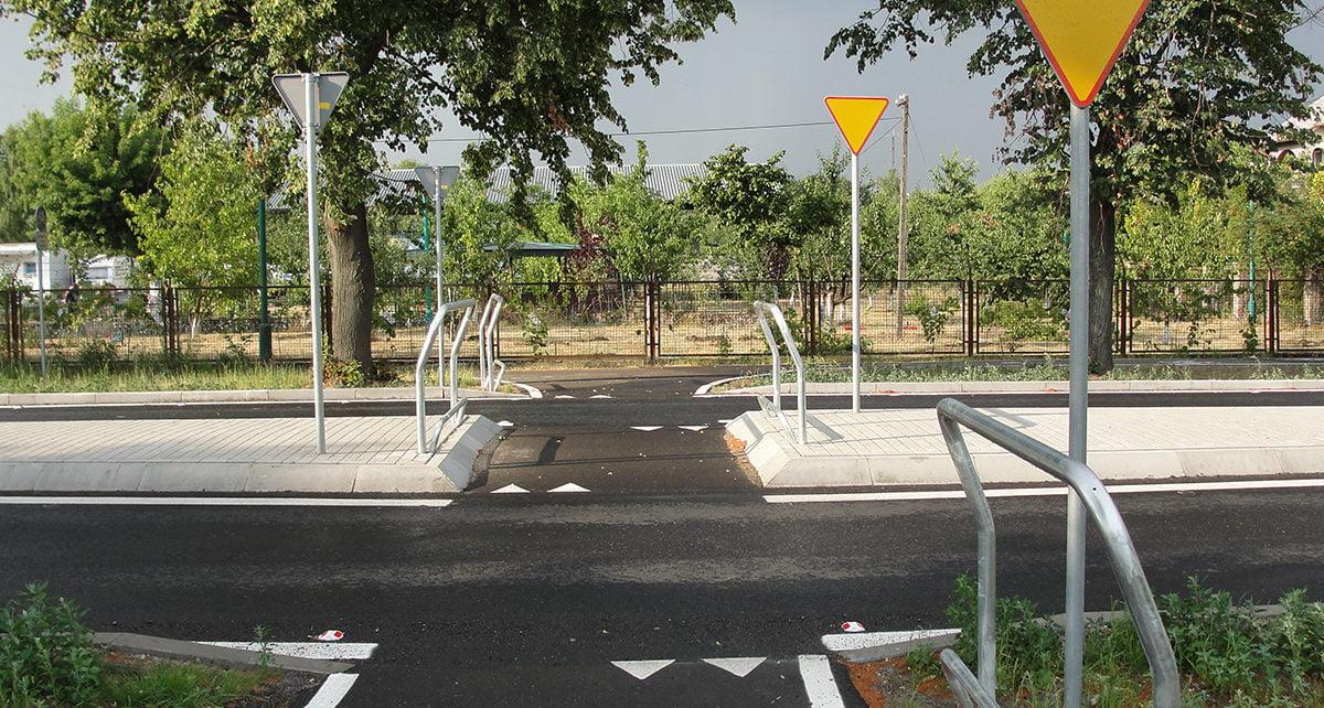sugerowany przejazd rowerowy