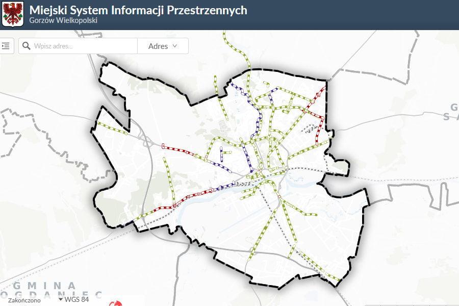 nowa mapa rowerowa gorzów