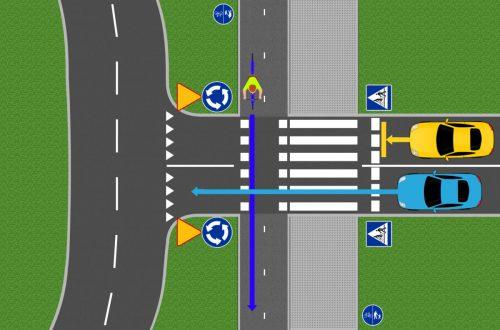 zachowanie kierowcy przejazd
